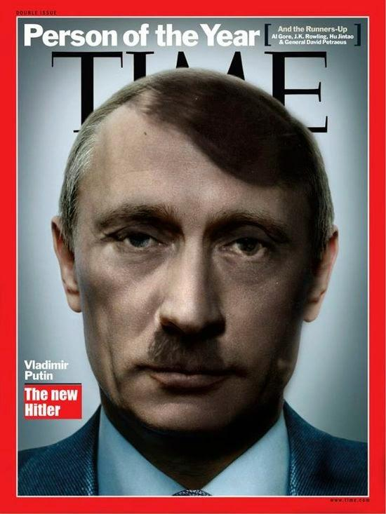 Composite of Hitler and Putin