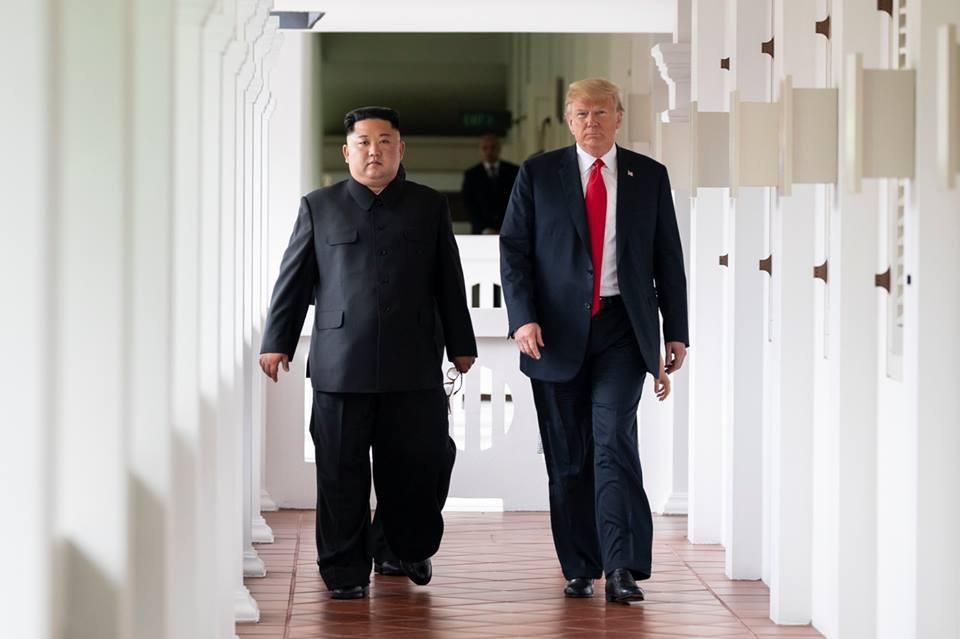 Kim Jong Un with Donald Trump