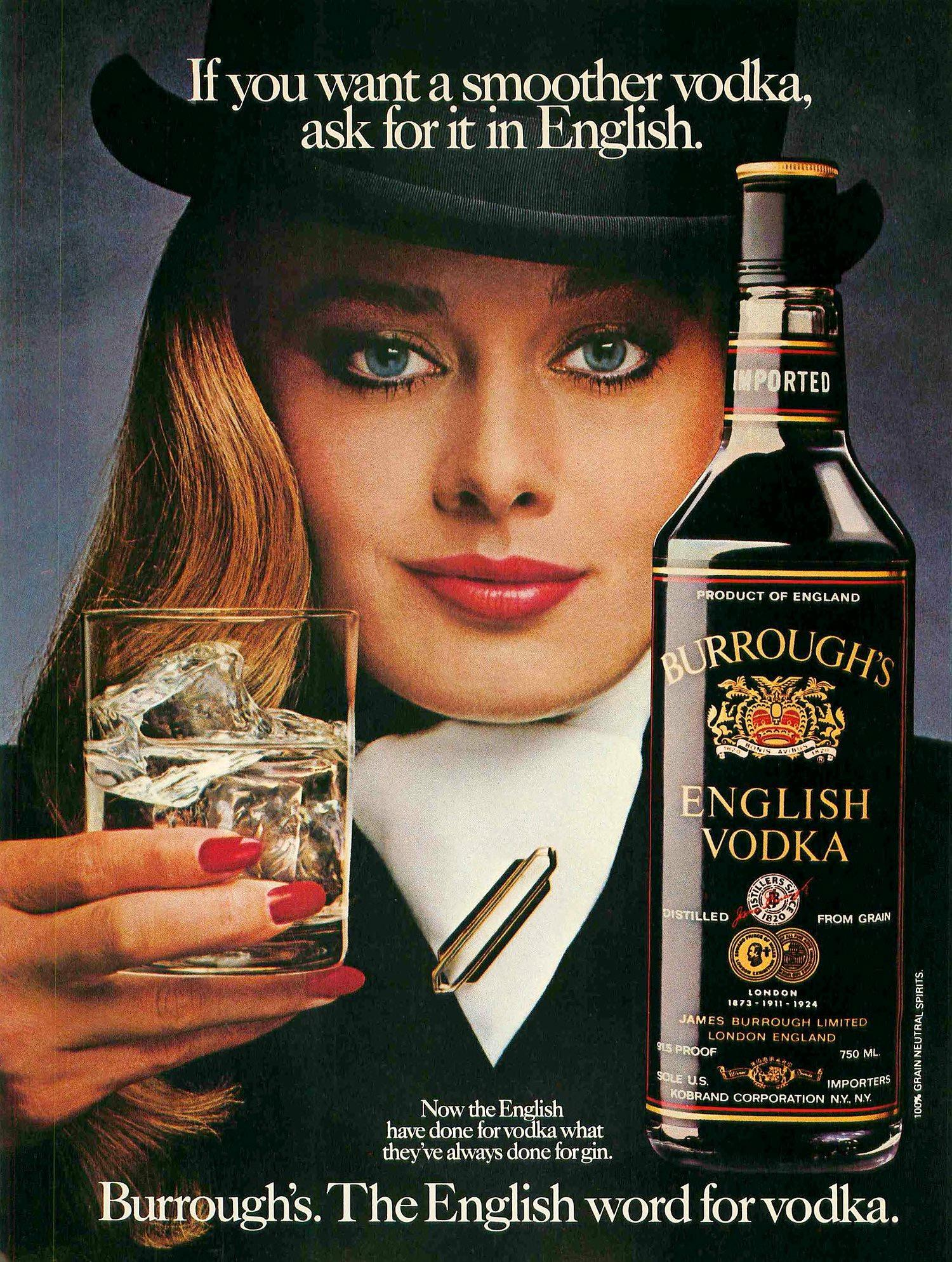 Burroughs English Vodka