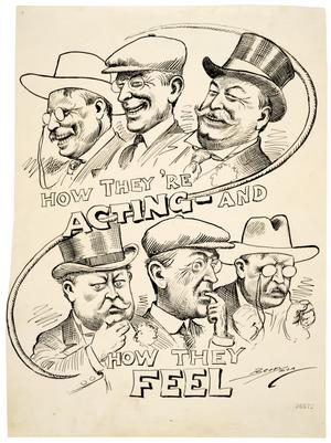 Political Cartoons Illustrating Progressivism and the Election of 1912